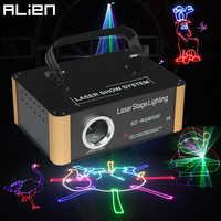 Projecteur Laser d'animation de carte d'alien 500mW rvb DMX SD PRO DJ effet d'éclairage de scène de Disco Scanner de barre de Club de vacances de mariage