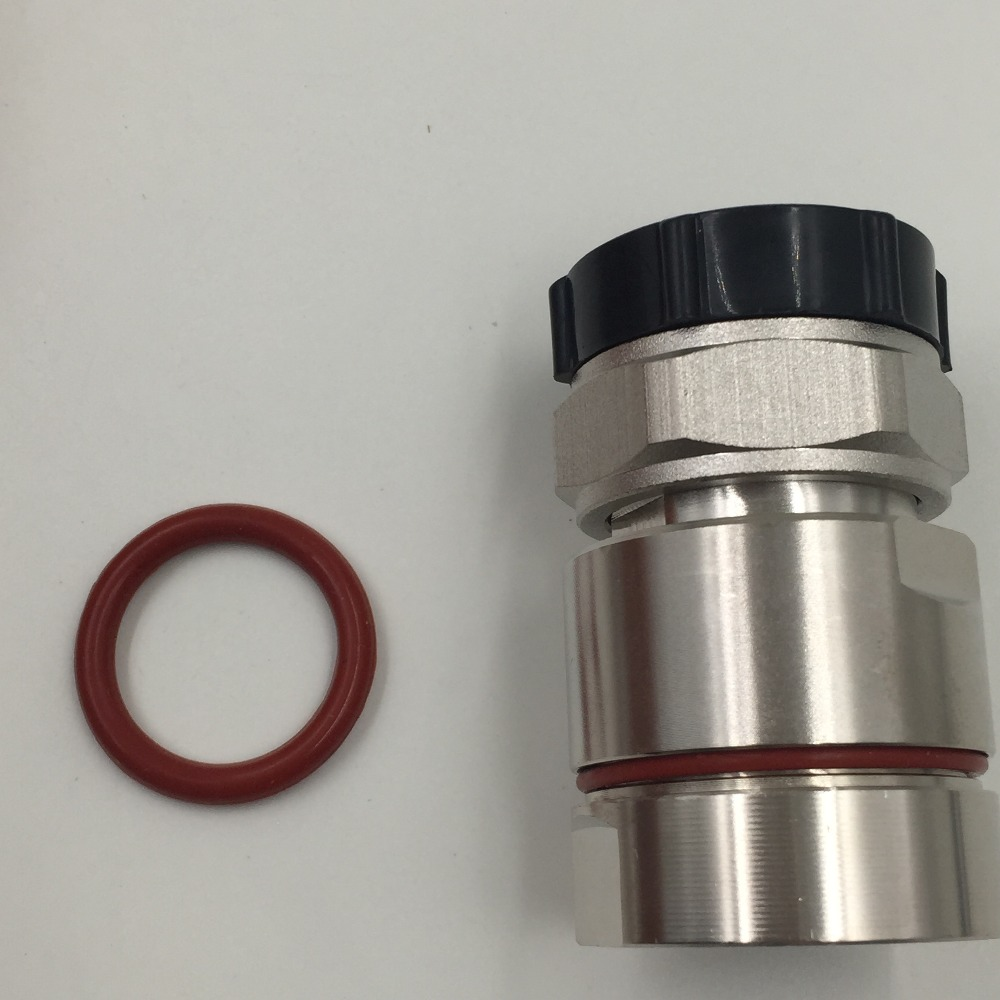 цена на 1pce Connector 7/16 DIN plug pin clamp 7/8 cable RF COAXIAL straight Silver