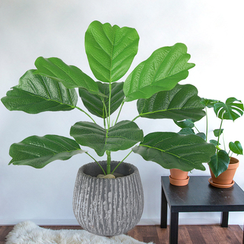 Artificial Green Plant Artificial Banana Leaves Wedding Decoration Fashion Simulated Babana Leaves 9 Heads Office Livingroom gadget