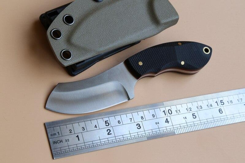 Neon Small chopper fixed blade font b knife b font N690 Blade KYDEX Sheath font b