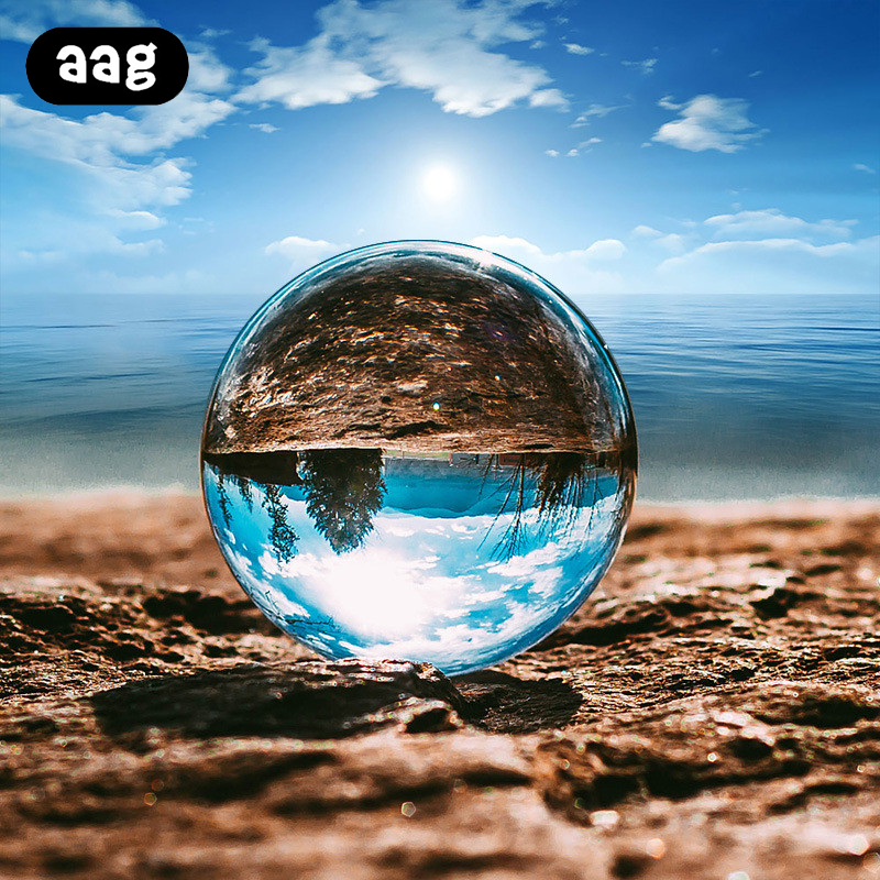4cm/6cm/8cm Photography Crystal Ball 3D Transparent Travel Photography Photo Props Sphere OfficeOfficeliving Room Decorativeball