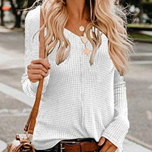 цены Fashion Women Solid Long Sleeve Top V-neck Thin Sweater Autumn Casual Knitted Tops Pullovers