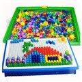Lleno Box 296 Grain perlas uñas hongo inteligente 3D juegos de Puzzle para niños bebés niños juguetes educativos W127