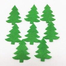 200ks 30x40mm plstěná látka Zelená vánoční stromky zdobení řemesla Domů Vánoční stromek Appliances Patch for Cardmaking