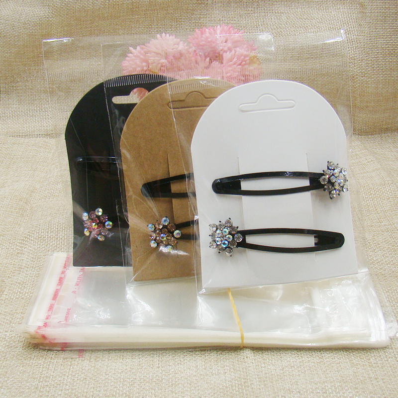 ZerongE Jewelry 8*10cm Blank Paper Card Packaging Displays Jewelry New Hair Clip Cards 100pcs +100pcs Opp Bag Matching Per Lot