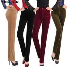 Autumn Women Corduroy Pants Pantalon Mujer high Waist straig