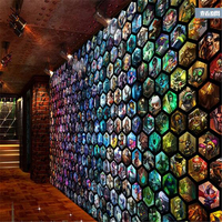 League Game Theme Cafe Bar KTV Wallpaper Murals Large Game City Background Papel De Parede Para