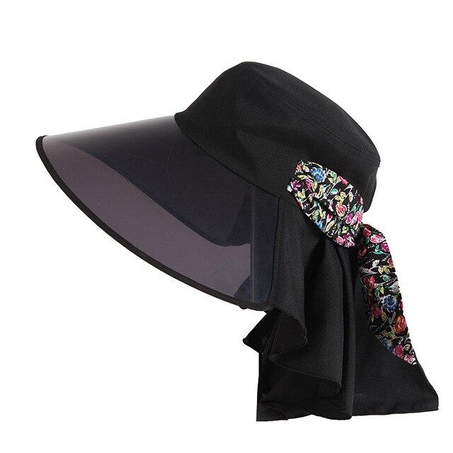 Продвижение Новая Леди Шляпа Солнца Широкими Полями Fedoras Cap Женский Мода Лето Открытый Складной Ветрозащитный УФ Шляпу B-3008
