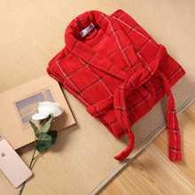 Autumn Winter Men Bathrobe Thick Cotton Robe Sleepwear Plus Size XXL Kimono Robe Blue Bathrobes Male Warm Long Sleeve Lounge
