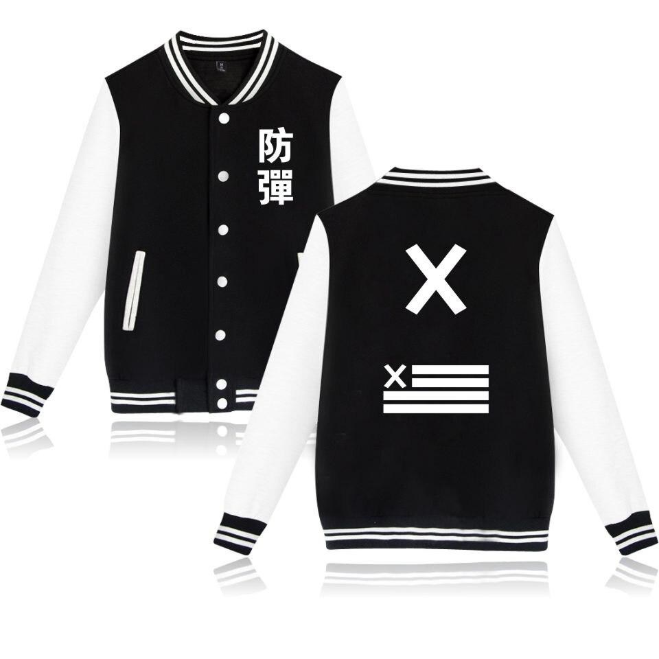 BTS Kpop Jacket Hoodies Women Fashion Winter Popular Bangtan K-pop Sweatshirt Women Hoodies Casual Female Fans Baseball Jacket