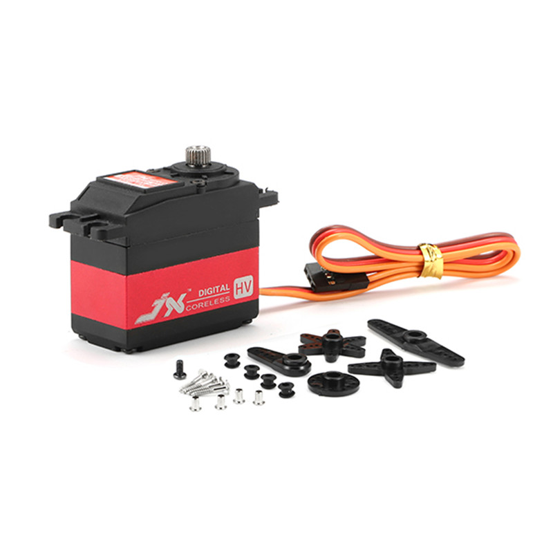 New Arrival JX Servo PDI-HV5932MG 30KG Large Torque 360 High Voltage Digital Servo For RC Model Parts jx servo pdi 6115 mg kg 15 large torque torque metal gear steering gear digital hollow cup standards
