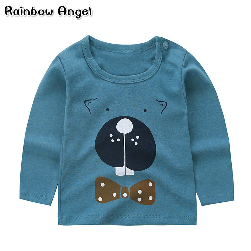 Spring Boys Girls Clothes Kids Long Sleeve Cotton T Shirts for Boys Fashion Printed Children Tops Tees T Shirt Teenager Clothing стоимость