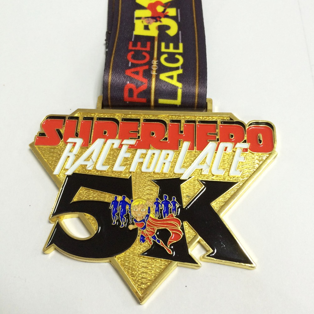US $460 0 |design your own medal engraved on your logo for running race  with sublimated medal ribbon as award medal 60mm diameter 200pcs-in