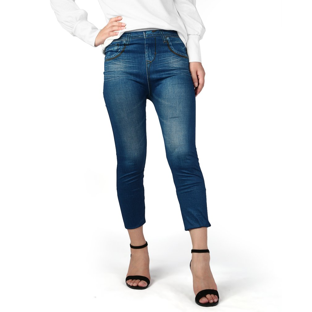 High Waist Lady Denim Sexy slim Pencil   Jeans   Pants Seamless Women Skinny Stretch   Jeans   Slim   Jeans   Leggings Skinny Pants