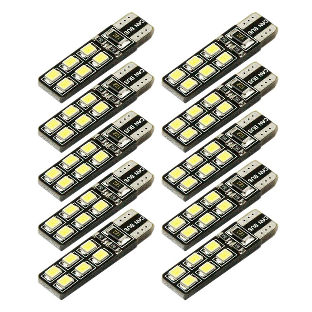 kongyide Healight Bulbs 10x T10 2835 Show Wide Night Lights Car Modification 12smd Led Small Lamp NOV9
