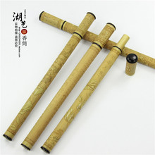 Sweet body Delicate jade bamboo carving heart sutra long joss stick Mouth pull tube teachers appliance