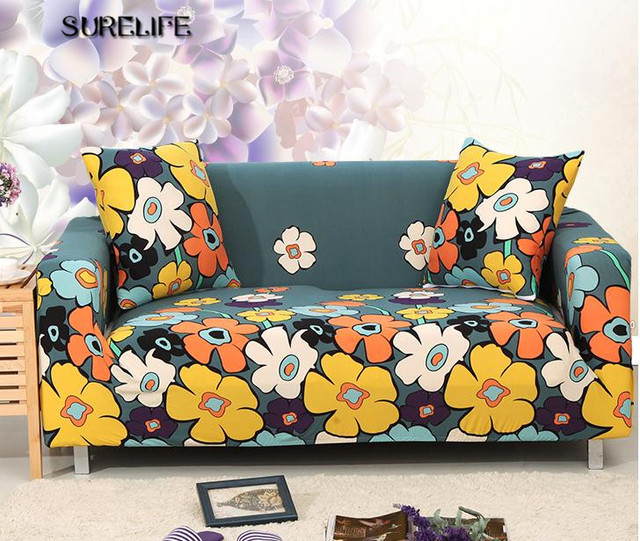 Stretch Chaise Sofa Cover Elasticity Flexible Printed Couch Loveseat