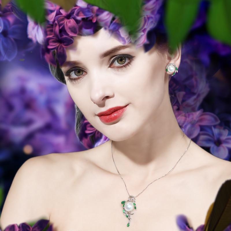 MINTHA Pendientes de perlas de esmeralda, pendientes de piedras - Joyas - foto 6