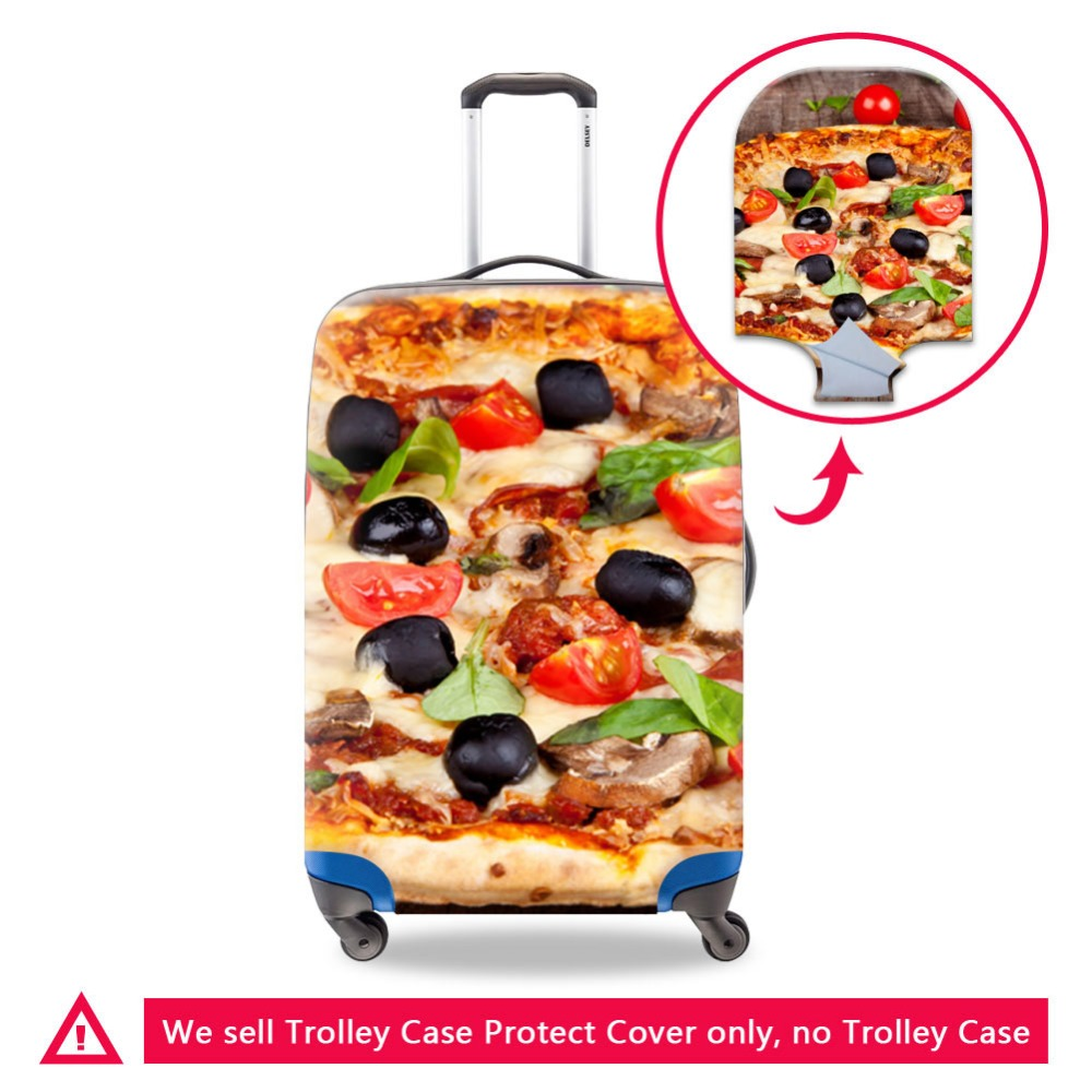 Dispalang High Quality Printing Your Image Pan Pizza On Luggage Cover For Lady Female Traveling Accessories 4 Size Female Covers