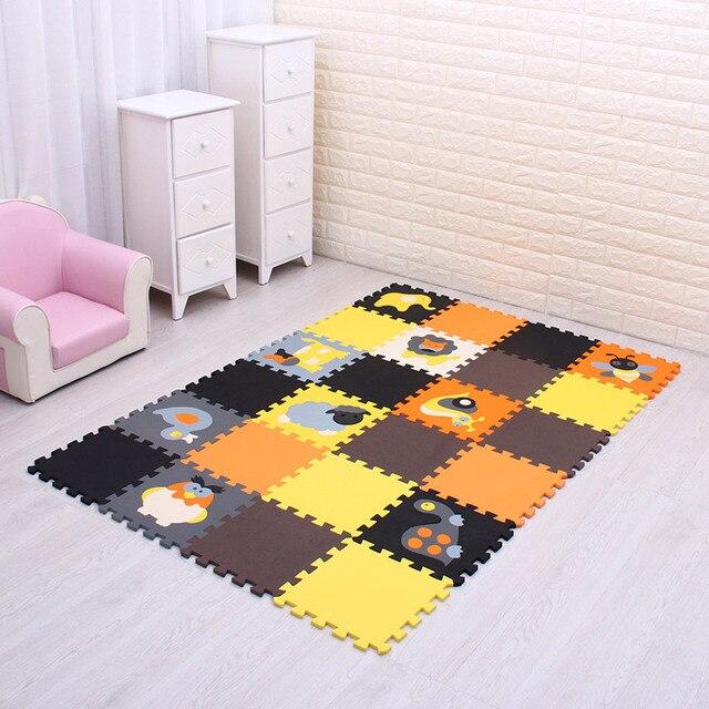 puzzel speelkleed voor kinderen kwaliteit cartoon dier patroon solid kleur eva foam gamepad baby peuter slaapkamer