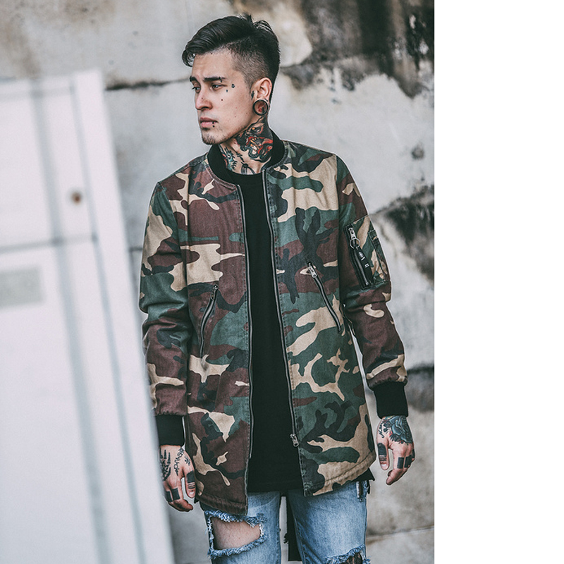 Menu0026#39;s Camouflage Hip Hop Jacket