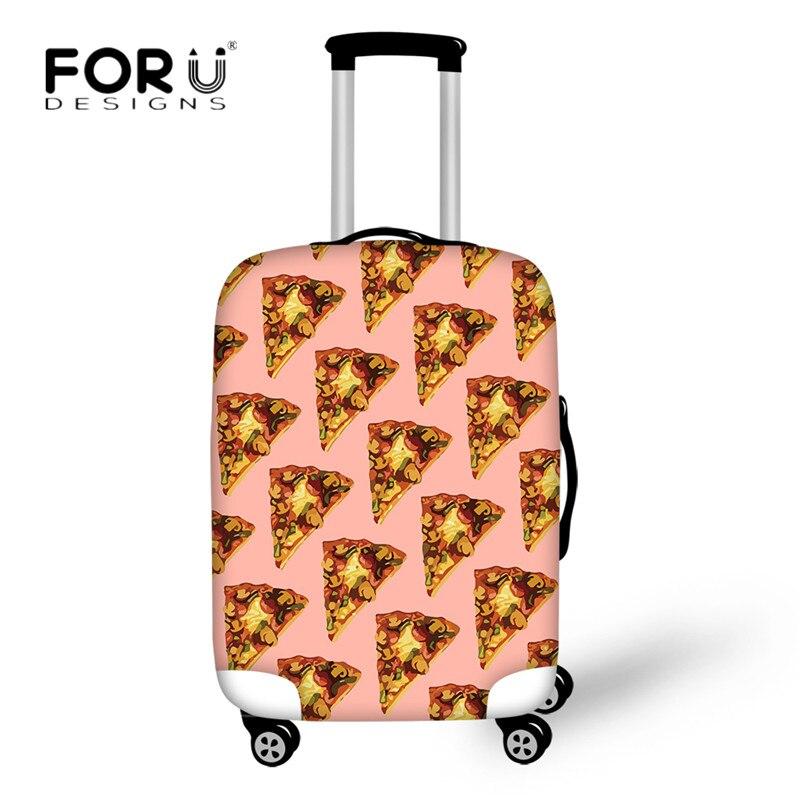 Forudesigns Туристические Товары 3d пицца печатных Чемодан защитный Чехлы для мангала чемодан относятся к 18-30 дюймов Чехол пыли дождь крышка сумк...