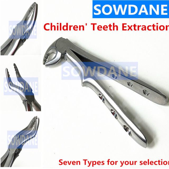 Stainless Steel Dental Forceps Children kids Tooth Extraction Forceps Pliers Kit Orthodontic Dental Lab Instruments Tools