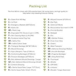255 шт., большой размер, удобный аптечка, сумка, аварийный набор, Медицинская спасательная сумка для рабочего места, дома, для улицы, автомобил...