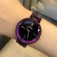 Топ роскошные женские часы Новинки для женщин с бриллиантами платье часы модные Нержавеющаясталь женские часы элегантный женский часы