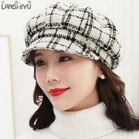 السيدات الساخنة الأزياء ممتازة محبوك ريال الفرو الطبيعي الحقيقي النساء الشتاء قبعة عالية الجودة قبعة البيريه