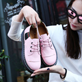 2017 New Arrive British Style Women Oxfords Spring Winter Lace-Up Flats Round Toe Creepers Casual Ladies Platform Shoes Woman