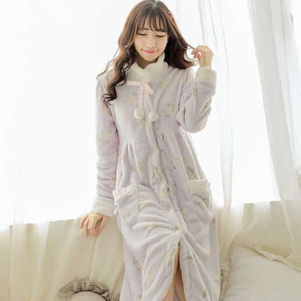 Sweety bestie robe adult women autumn royal lolita lovely cats stand collar  sleepwear bath robes dressing gowns for women QHQ-in Robes from Underwear  ... ccaa713ad