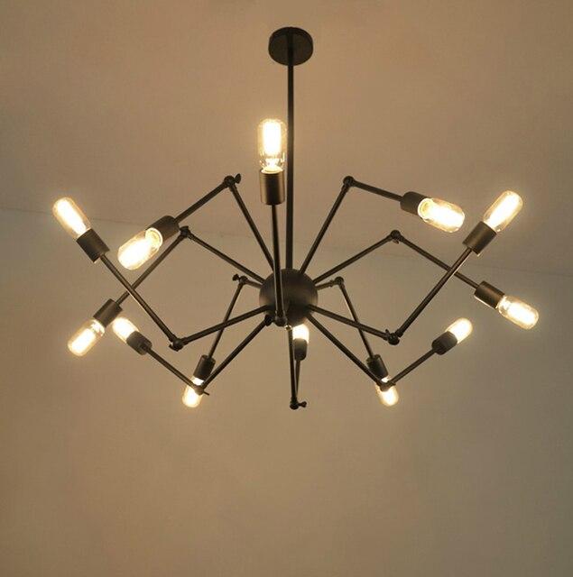 Loft am ricain en fer forg lumi re vintage plafonnier lampe Industrielle arts noir fer araign.jpg 640x640 5 Bon Marché Plafonnier Noir Industriel Gst3