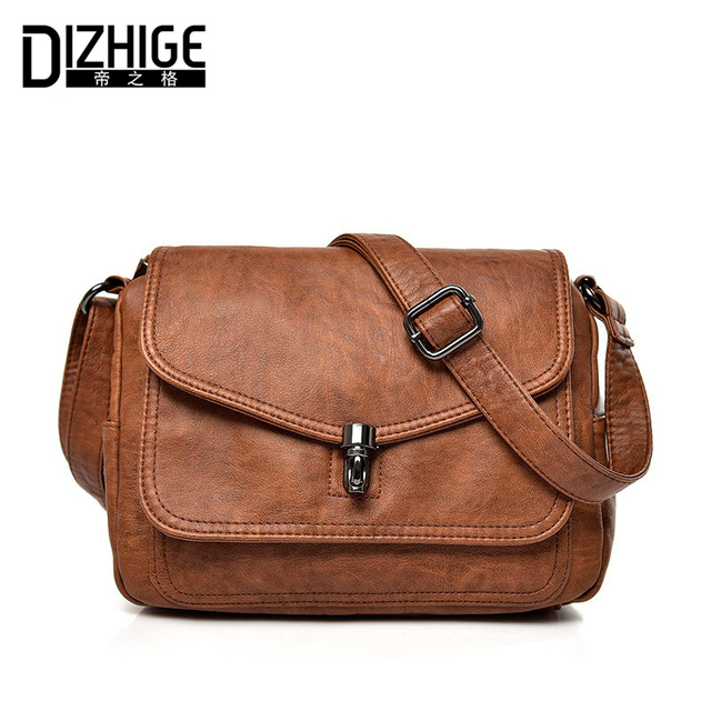 52717f050f6d DIZHIGE Brand High Quality Genuine Leather Crossbody Bags Women Small Flap  Women Messenger Bags Real Cowhide Shoulder Bag Ladies