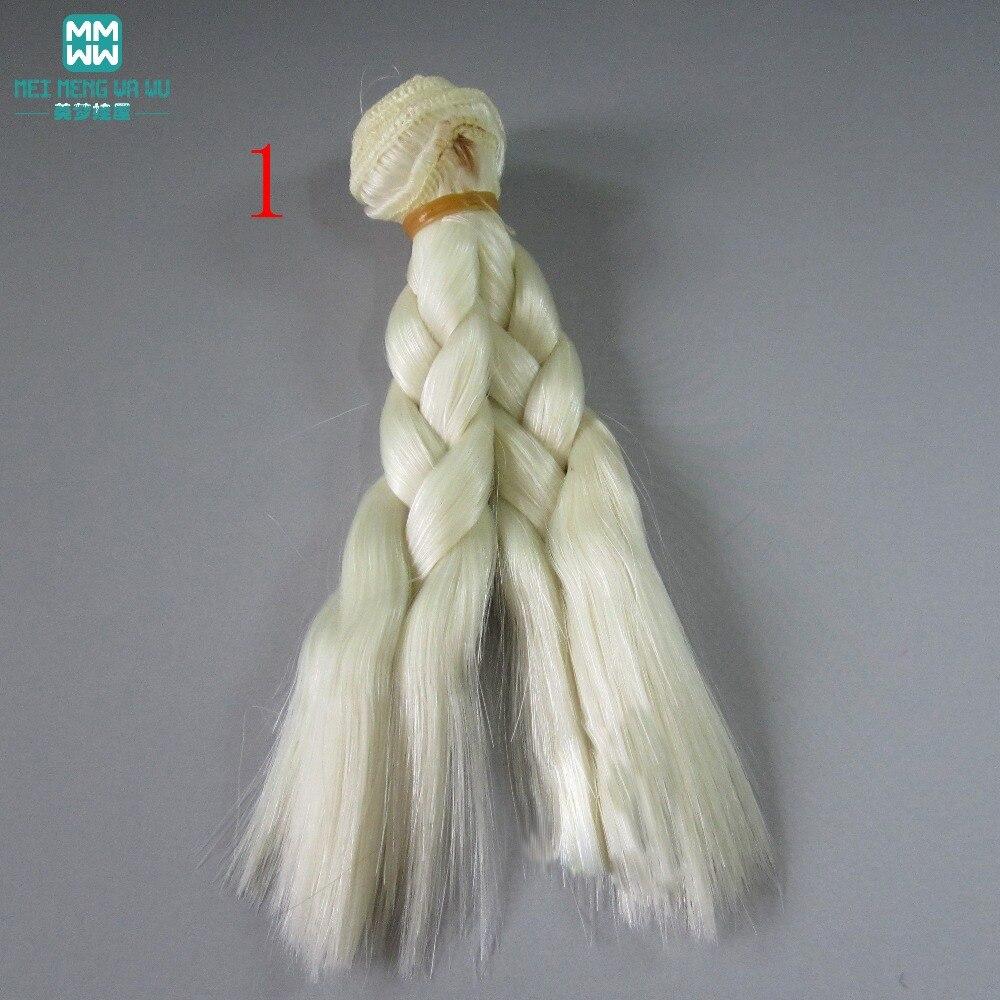 1 unids 15 cm y 25 cm * 100 CM trenza peluca Muñeca pelucas / pelo - Muñecas y peluches - foto 1