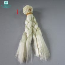 1pcs 15cm&25cm*100CM  Braid hairstyle Doll wigs/hair For 1/3 1/4 1/6 BJD/SD doll Multi-color