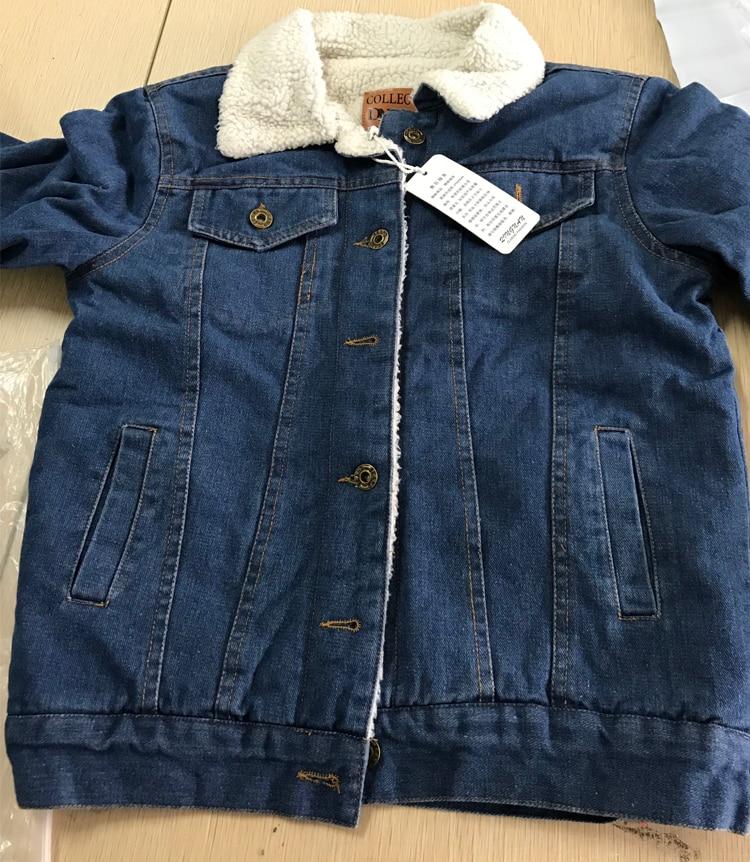 HTB1cUIWcOCYBuNkSnaVq6AMsVXa9 Spring Autumn Winter New 2019 Women lambswool jean Coat With 4 Pockets Long Sleeves Warm Jeans Coat Outwear Wide Denim Jacket