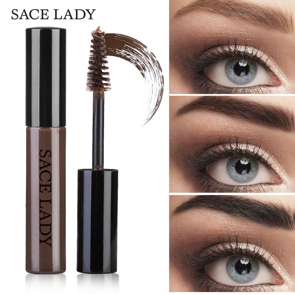 SACE LADY Tahan Air Alis Enhancer Cream Brown Henna Alis Mata Gel Tahan Lama Pomade Eye Makeup Cap Lilin Kosmetik