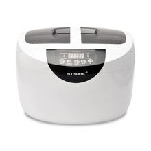 2.5L цифровой ультразвуковой очистки светодиодный 5-скорость синхронизации Регулируемый ультразвуковые волны стиральная ванна машины для очистки ювелирные часы