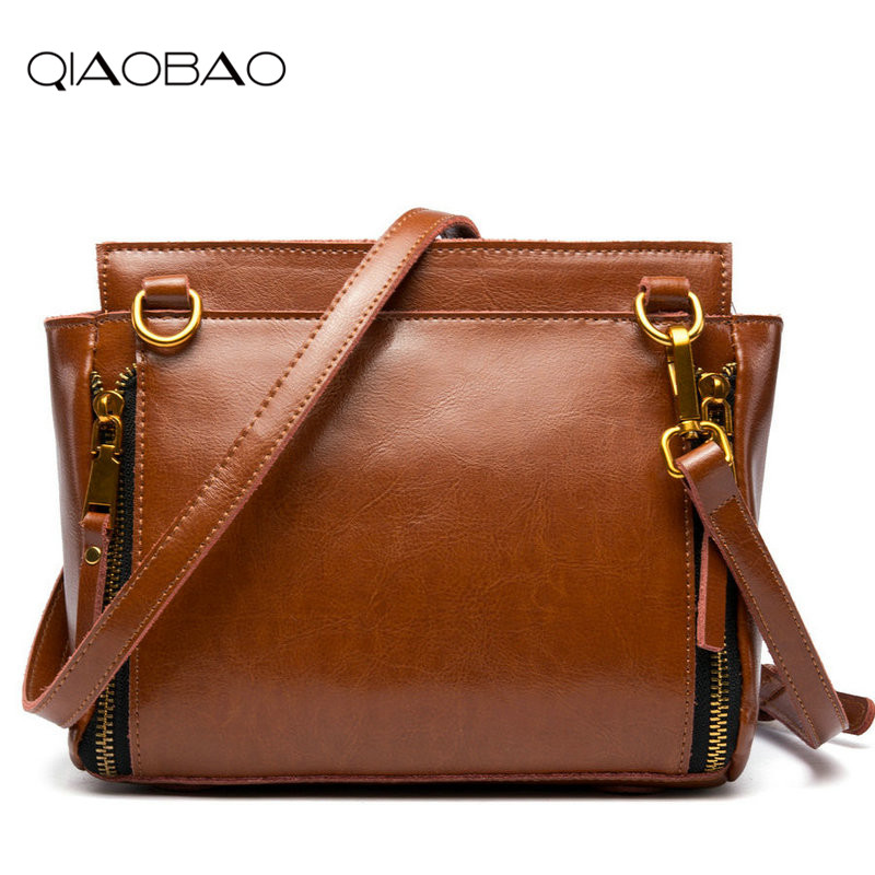QIAOBAO Genuine Leather Trapeze Bag Ladies Hand Bag Designer Handbags High Quality Woman Bags Handbags Women Famous Brands bolsa luxury genuine leather bag female designer smiley trapeze ladies hand bags handbags women famous brands shoulder bags sac femme