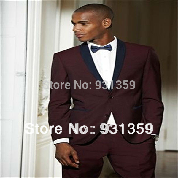 Fashion Groom Tuxedos Best Man Bride Formal Male Suits Design