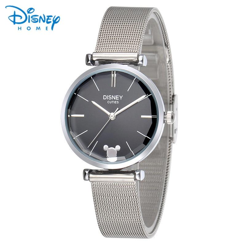 Damenuhren silber 2017  Aliexpress.com : Frauen Uhren Disney Original Edelstahl Armband ...