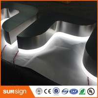 Aliexpress Factory Outlet Custom Outdoor Acrylic And Stainless Steel Led Store Signs