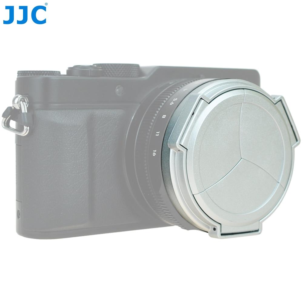 JJC Nero Argento Copriobiettivo Automatico per Panasonic LUMIX DMC-DMC-LX100 e LEICA D-LUX (Typ 109) Camera