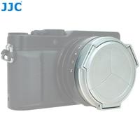 JJC ALC LX100 Series Black Silver Auto Lens Cap For Panasonic LUMIX DMC LX100 And LEICA