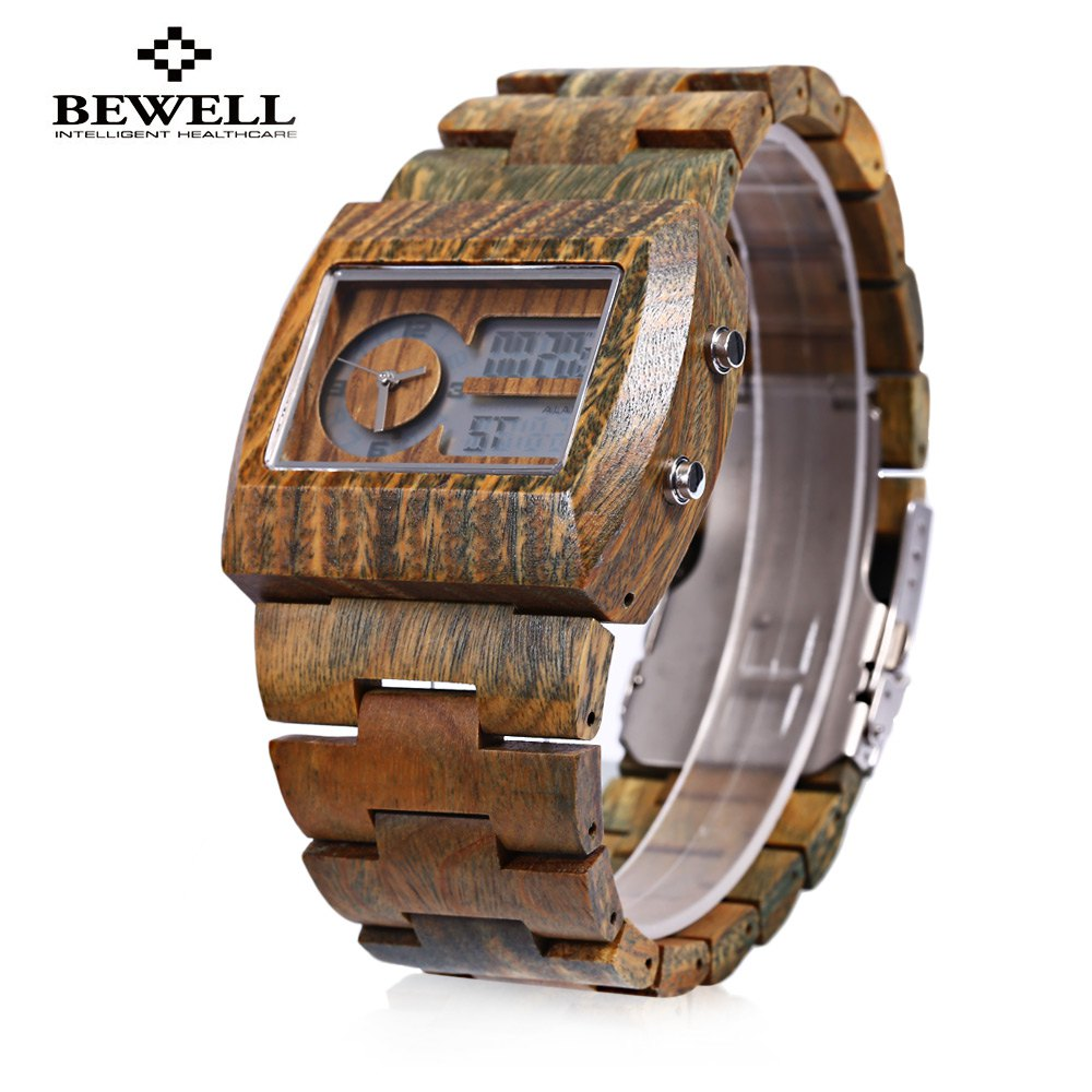 BEWELL Luxury Brand Men Watch Bamboo Wooden Quartz Watch Male Luminous Display Waterproof Wristwatches 2016 от Aliexpress INT