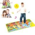 Alta Qualidade Quente Do Bebê Dos Miúdos Musical Toque Toque Novo Jogo teclado Musical Música Cantar Ginásio Carpet Mat Melhor Do Bebê Dos Miúdos presente