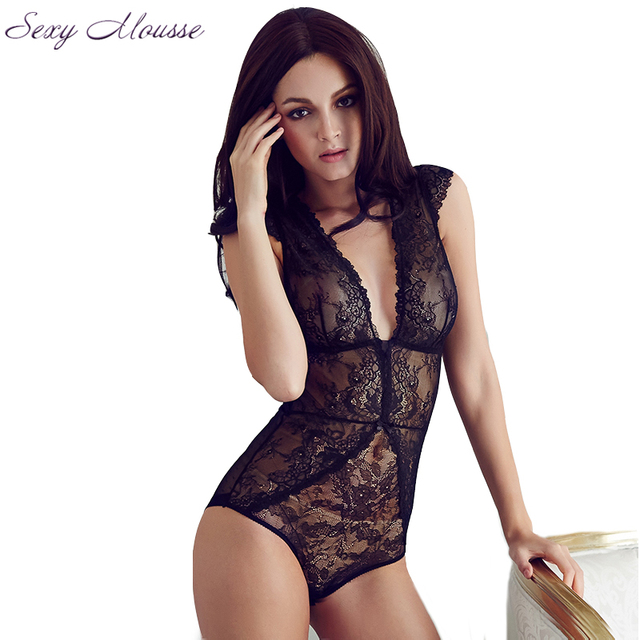 Sexy Mousse Full Transparent Lace Bodysuit Women V Vest Black shapers Corset Slim Bodies Hot Shapewear Panty Shaper For Women