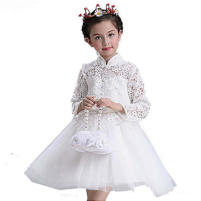 2017 New Formal Kids Dress For Girls Princess Wedding Party Dresses Girl Clothes 3-12 Years Dress Bridesmaid Children Clothing стоимость