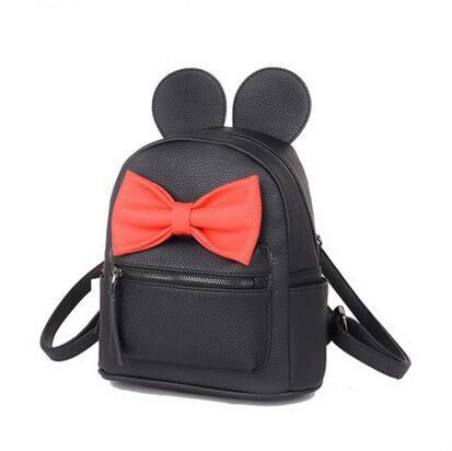 Mickey backpack big ear Fashion new Women Backpack Designers Brand for Teenage Girl High Quality PU